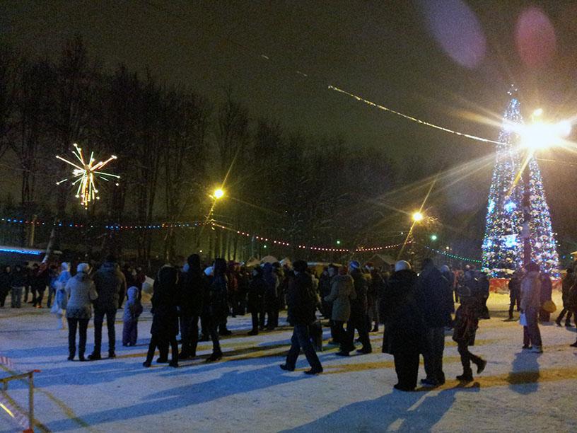 В парке «Швейцария» открылась новогодняя праздничная площадка