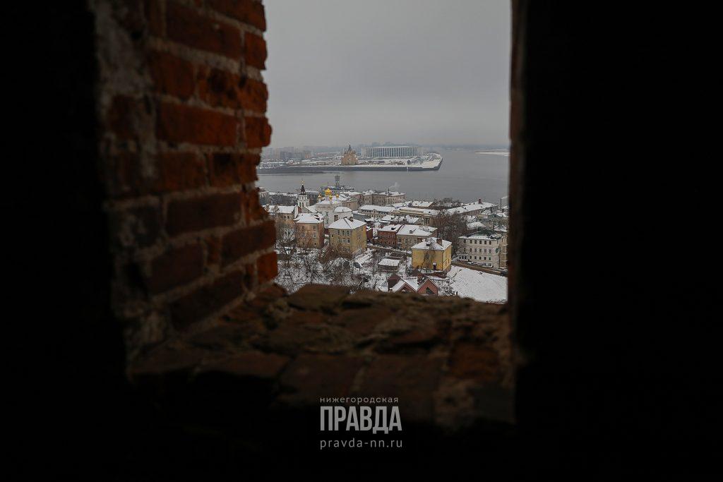 Окно в Нижний: смотрим на город с новой площадки в Тайницкой башне Нижегородского кремля
