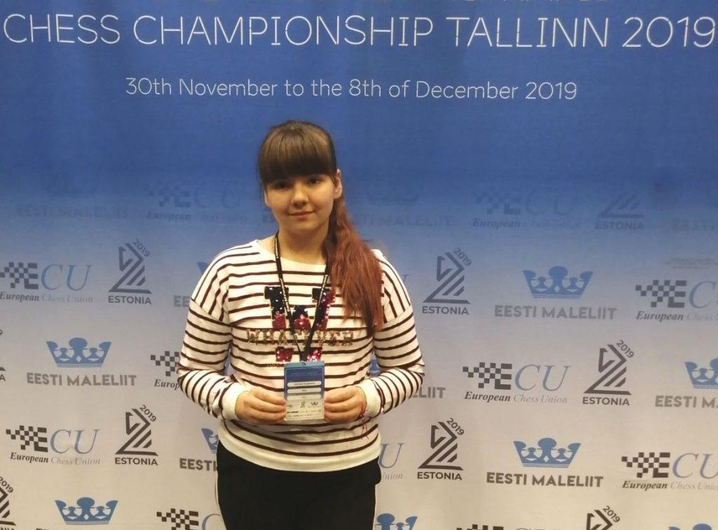 Борская шахматистка Вероника Шубенкова выиграла бронзу первенства Европы