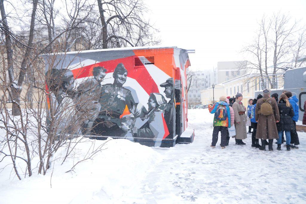 Граффити к 75-летию Победы появилось натерритории Нижегородского кремля