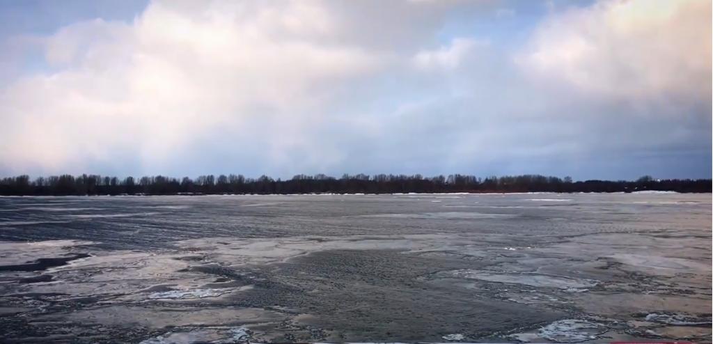 На Волге в районе Городца начался ледоход