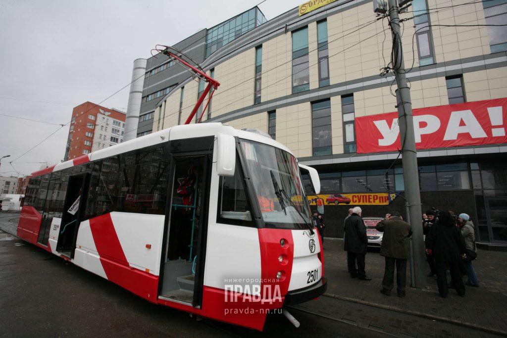 В рейс по Нижнему Новгороду вышли четыре московских трамвая
