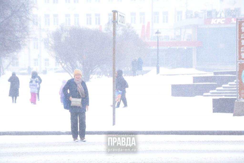 На Нижегородскую область надвигается метель