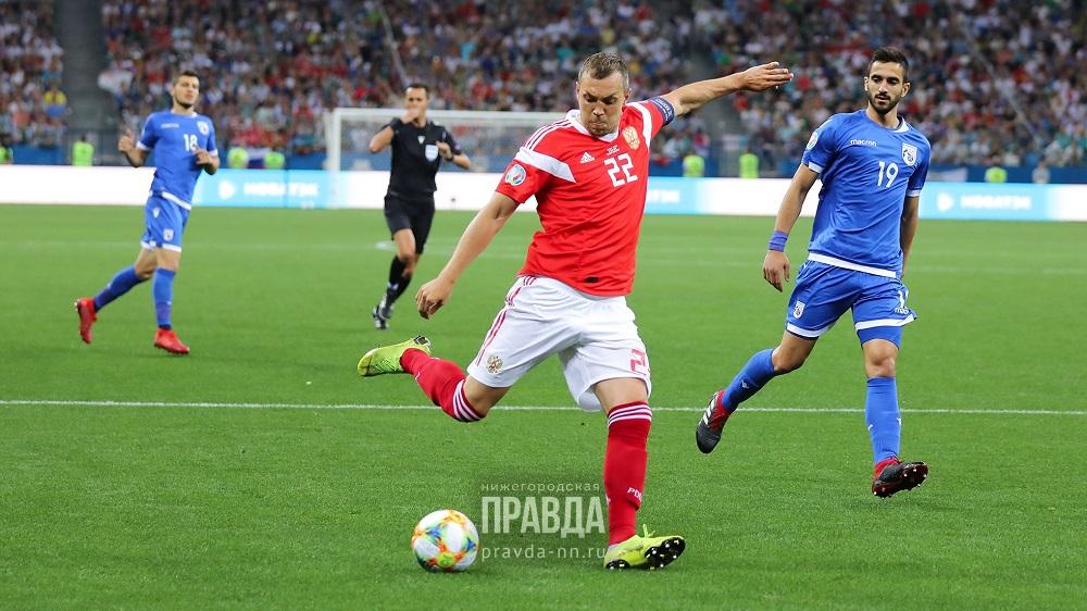 футбол россия-кипр