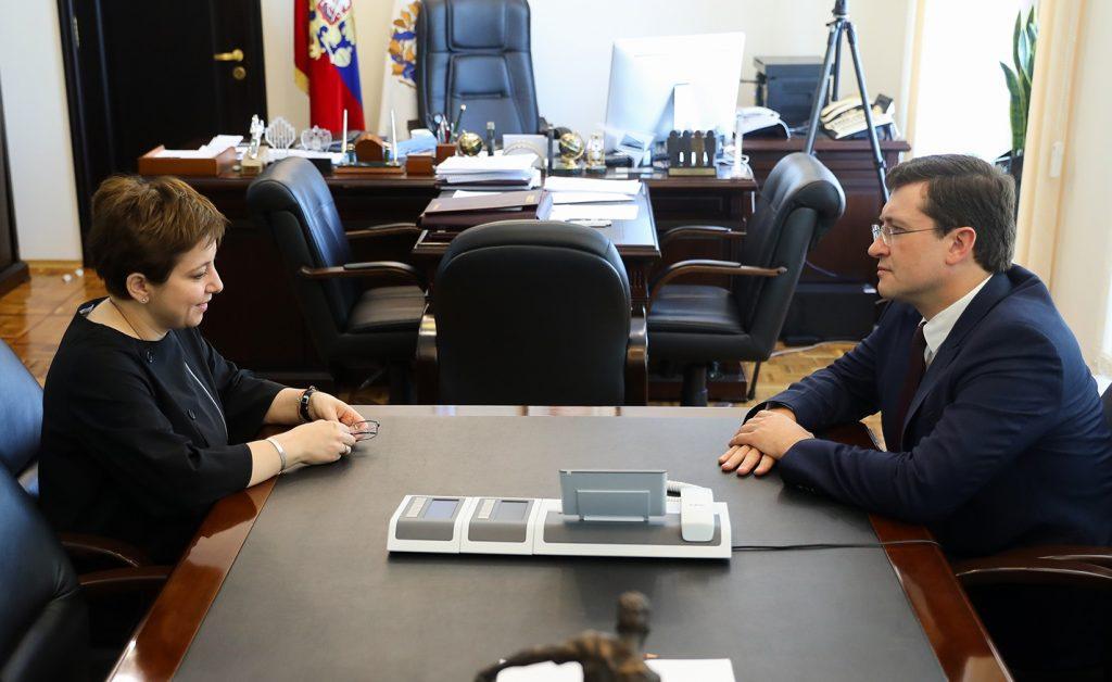 Глеб Никитин: «Нюта Федермессер возглавит региональную рабочую группу позащите прав уязвимых категорий граждан»