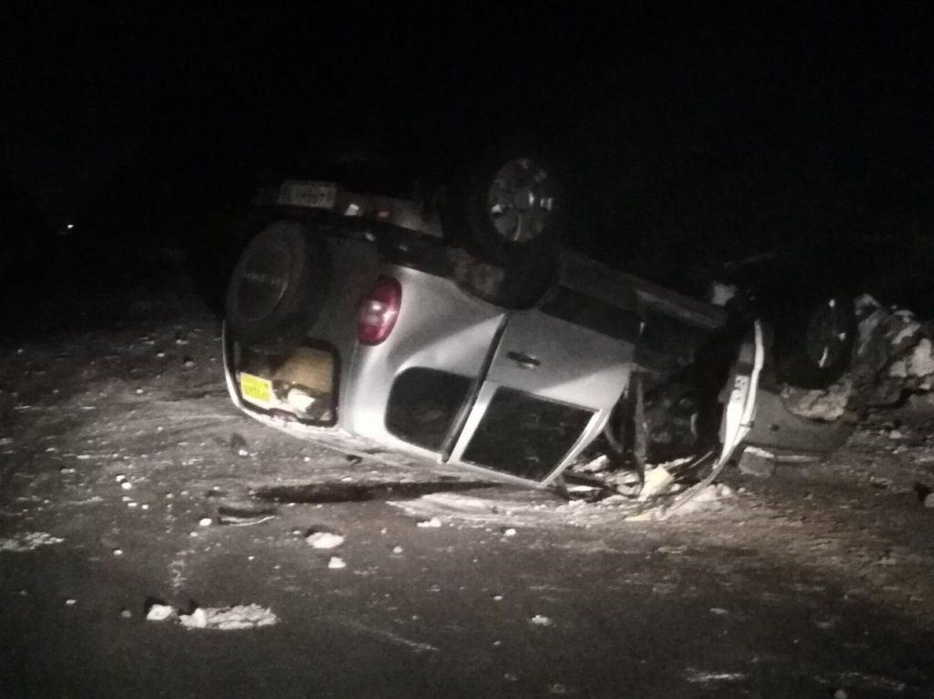 Машина перевернулась и легла в снег: видеорегистратор снял серьёзное ДТП под Нижним Новгородом
