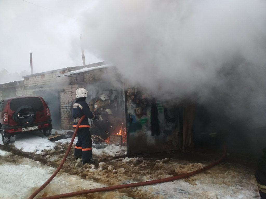 Мужчина сгорел в гараже в Выксе