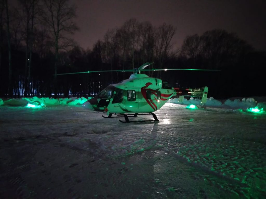 ВНижегородской области санитарная авиация начала работу вночное время