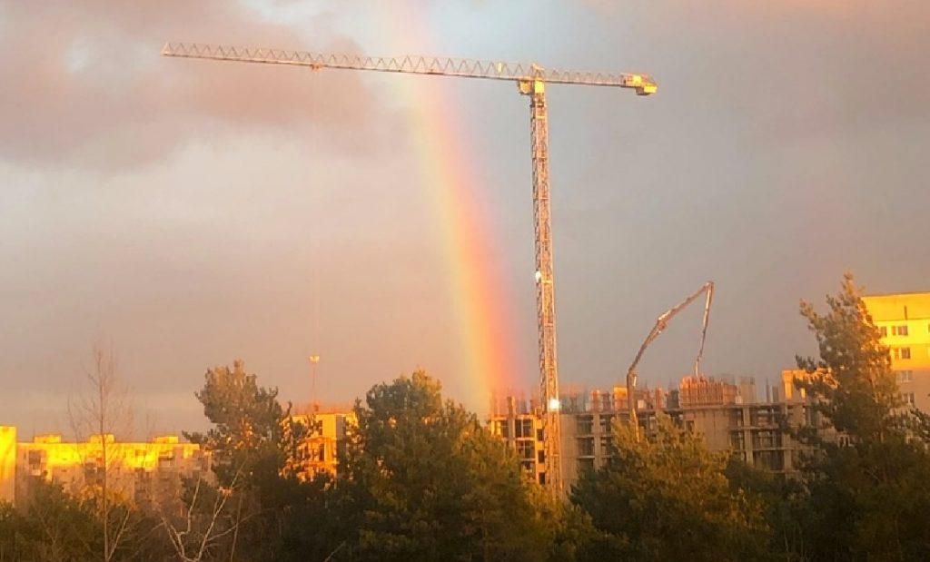 Мартовское чудо: первая весенняя радуга заглянула в Нижний Новгород