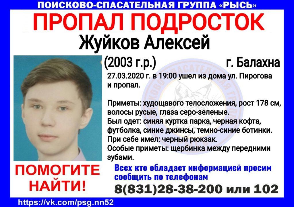 В Балахне пропал 17-летний подросток