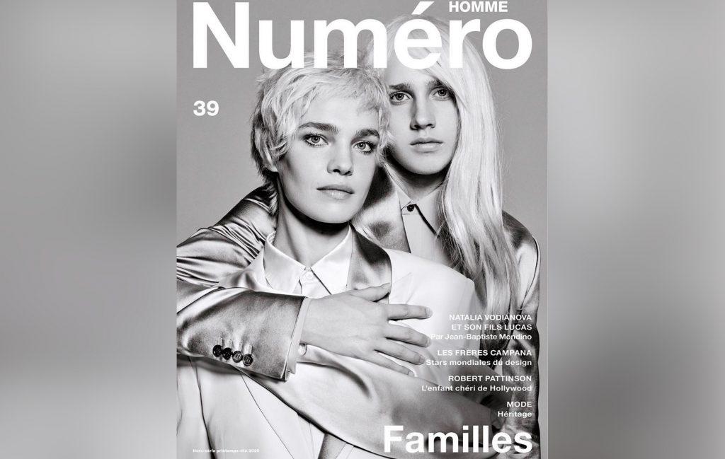 Наталья Водянова поменялась с сыном причёсками для обложки французского журнала
