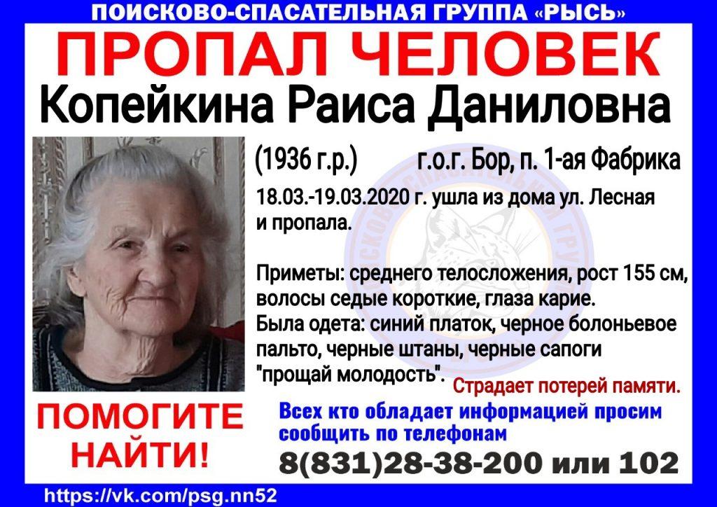 84-летнюю бабушку ищут в Нижегородской области
