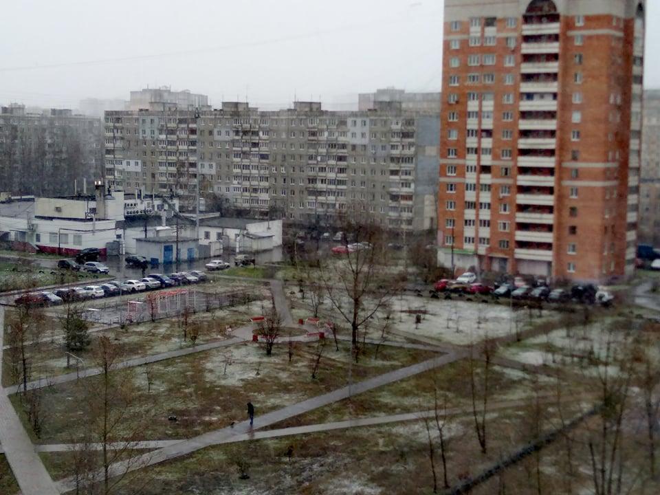 В Нижнем Новгороде выпал апрельский снег: смотрим фото и вспоминаем зиму