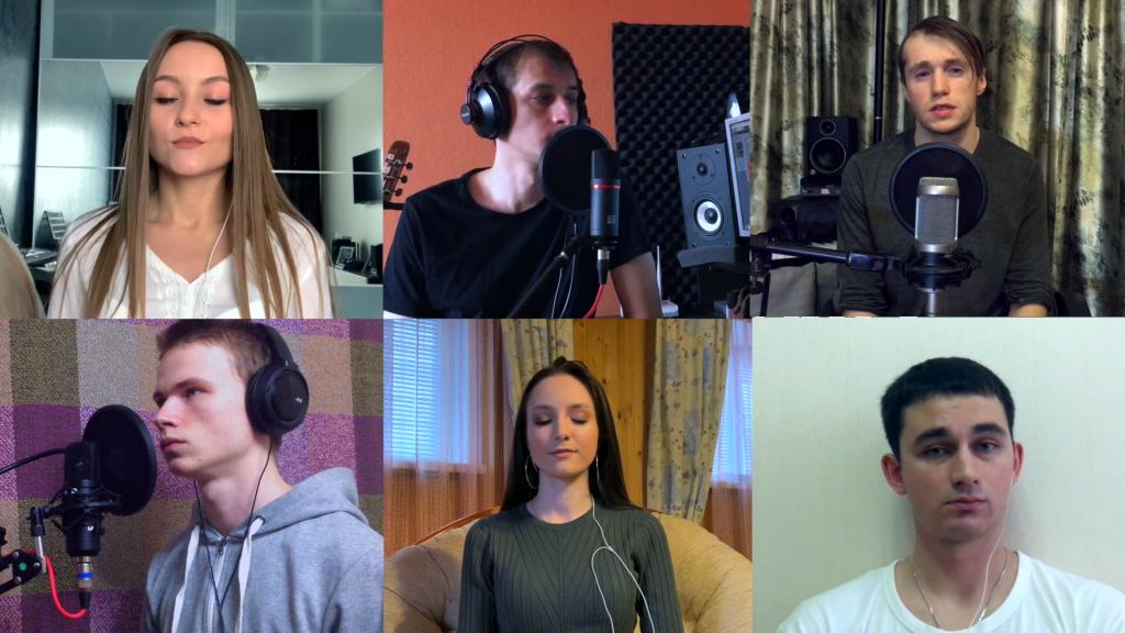 Нижегородская кавер-группа перепела «Любэ» по видео-чату