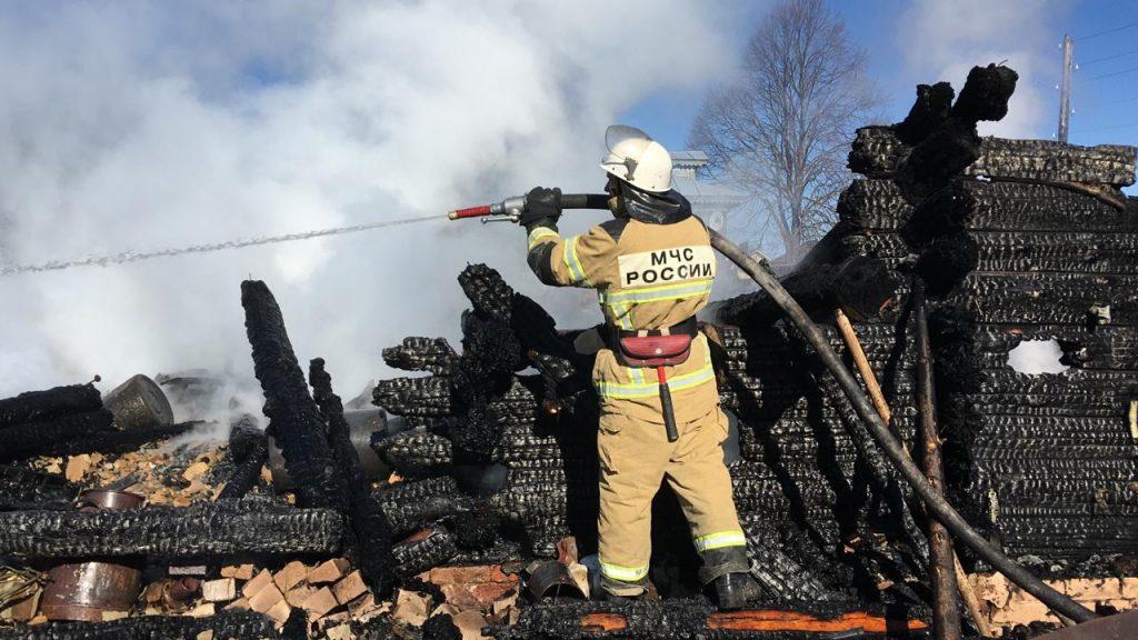 Два ребёнка погибли и двое пострадали на пожаре в Нижегородской области (ВИДЕО)