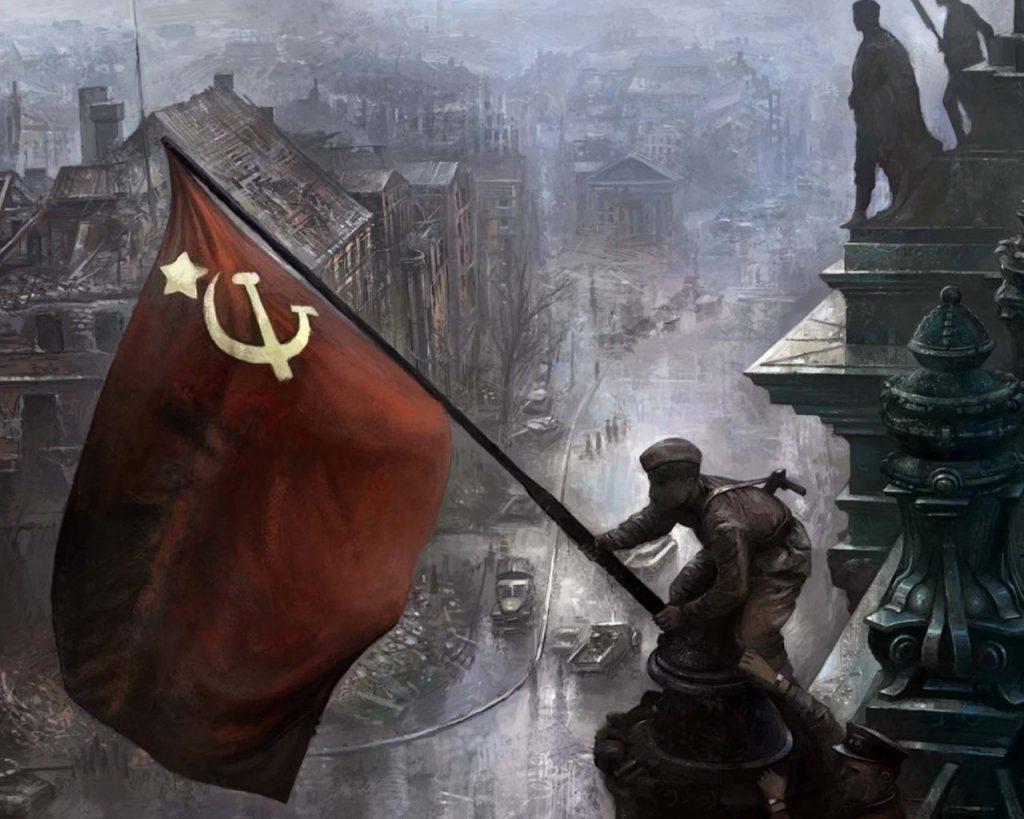 За нашу Советскую Родину: В годы войны наш народ сражался не просто за свою страну, а за страну победившего социализма