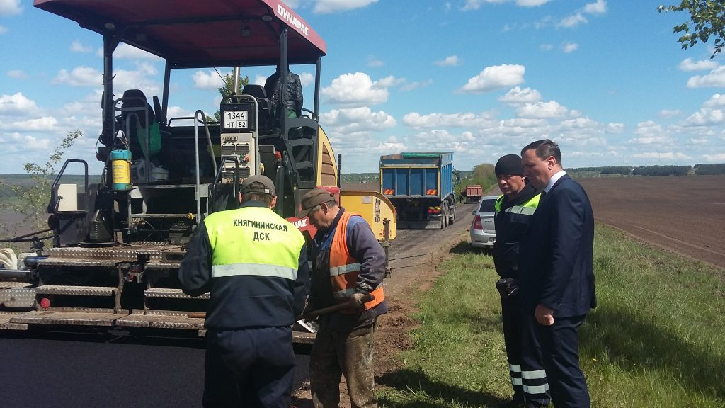 Дорожные работы в рамках национального проекта «Безопасные и качественные автомобильные дороги» начались в Княгининском районе