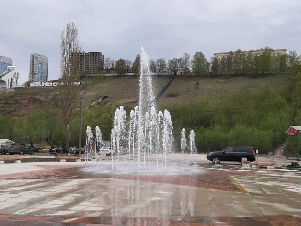 Новый фонтан открыли в нижегородском парке Победы
