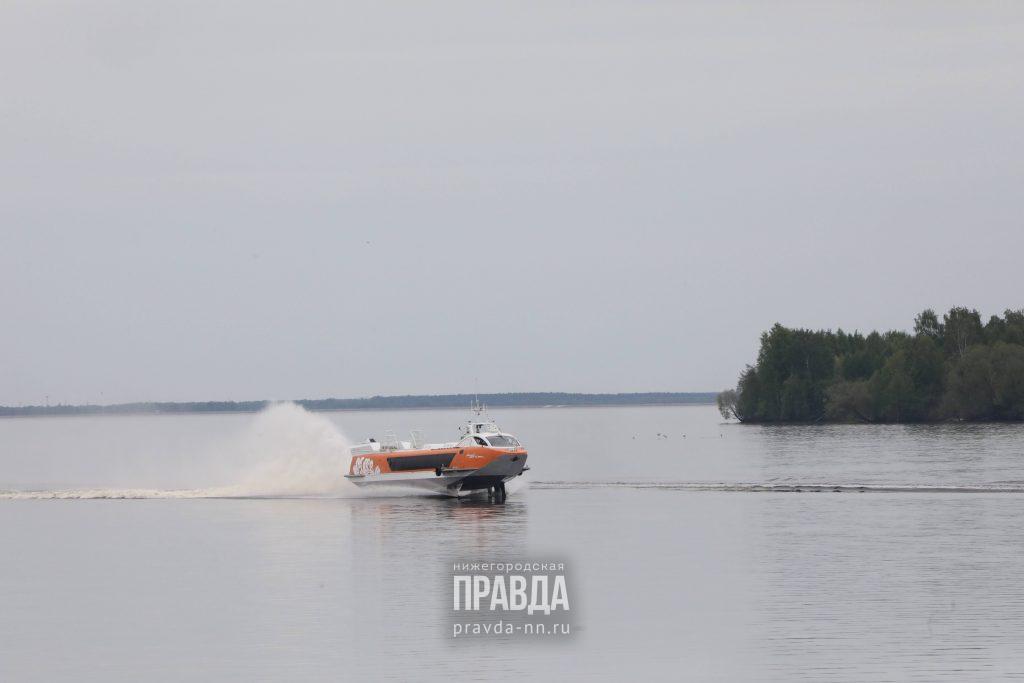 Пятое судно на подводных крыльях «Валдай 45Р» спущено на воду в Нижегородской области