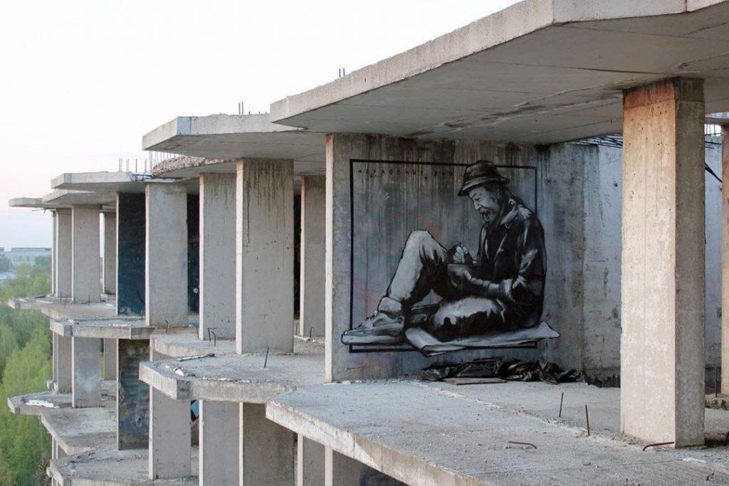 Новый нижегородский стрит-арт, посвящённый жертвам режима самоизоляции