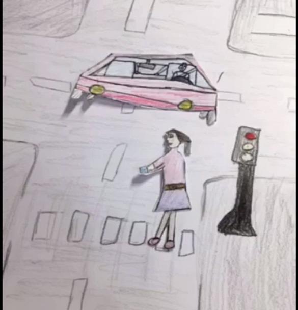 Третьеклассница сняла мультфильм о правилах дорожного движения