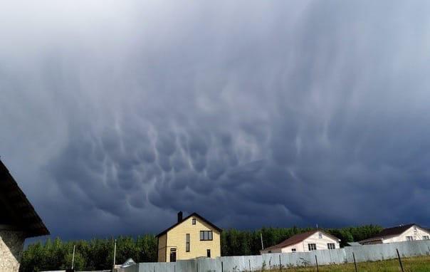 Фото дня: облака-мамматусы накрыли Арзамасский район