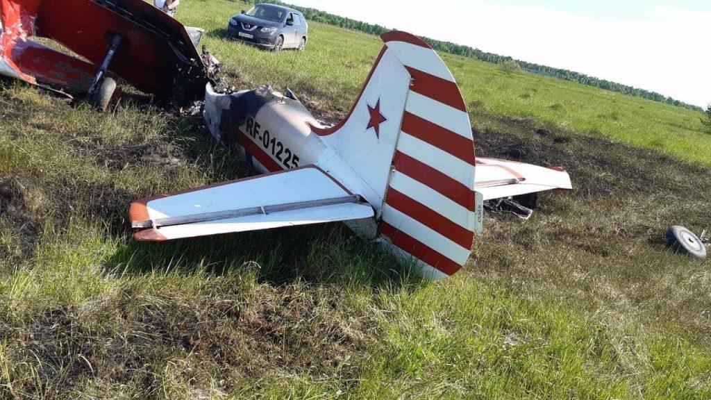 Легкомоторный самолёт разбился в Богородском районе (ФОТО)