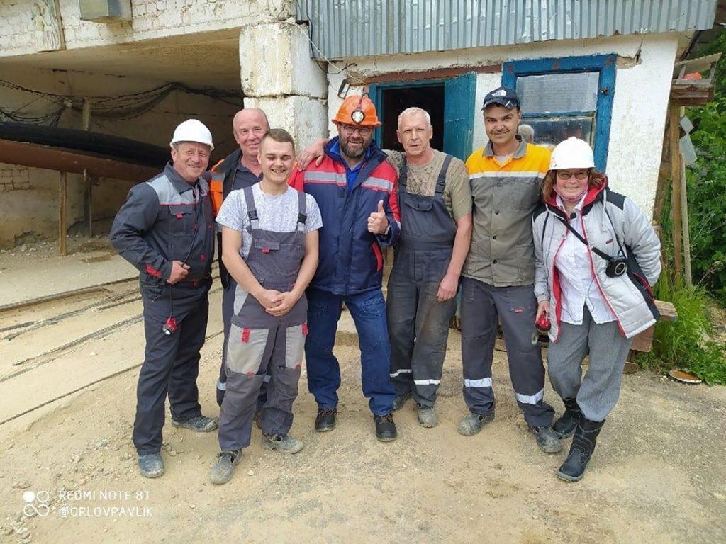 Фото дня: Михаил Пореченков тайно посетил Пешеланский гипсовый завод