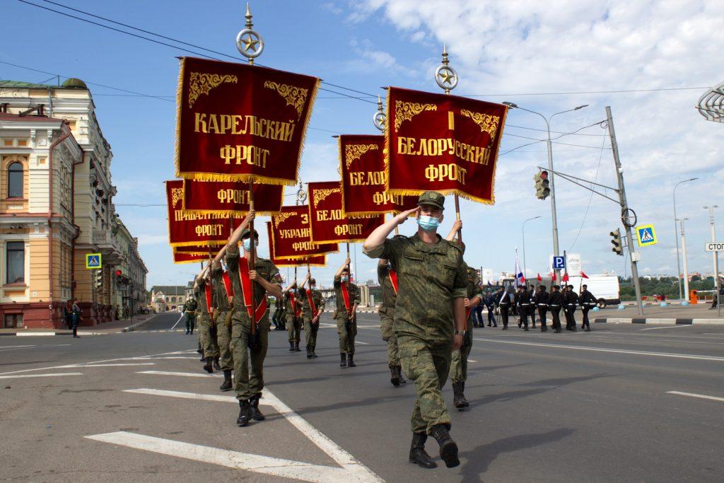 Репетиция «Марша Победы» прошла на Нижневолжской набережной