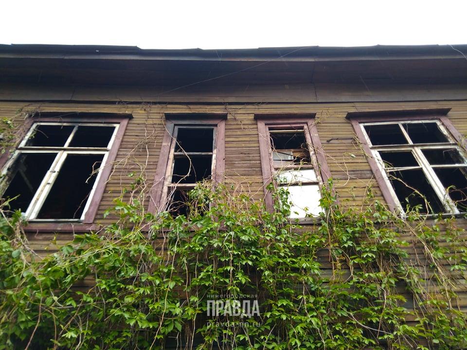 Фото дня: деревянный дом сгорел на улице Гоголя в центре города