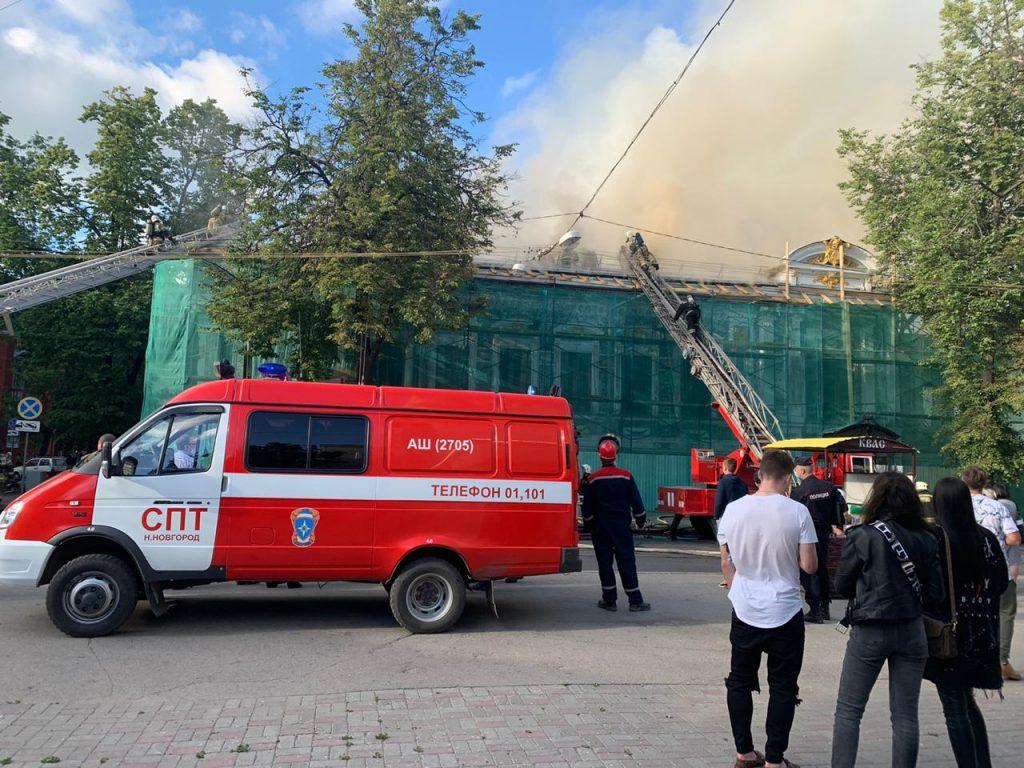 Литературный музей имени Горького загорелся в Нижнем Новгороде