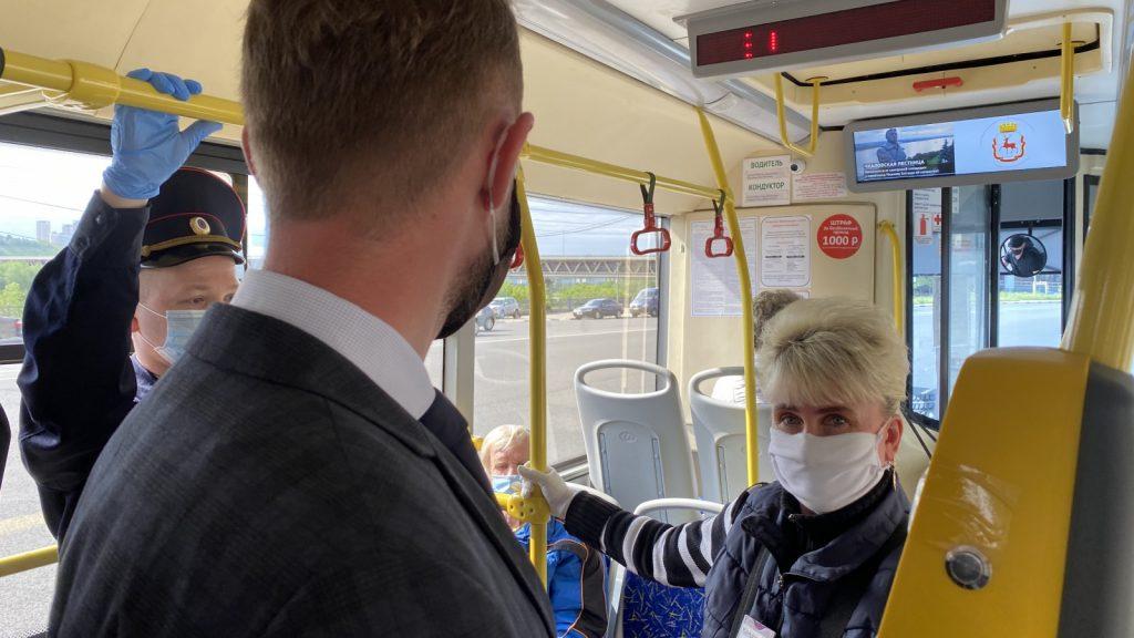 Рейд пособлюдению масочного режима вавтобусах провел минтранс Нижегородской области