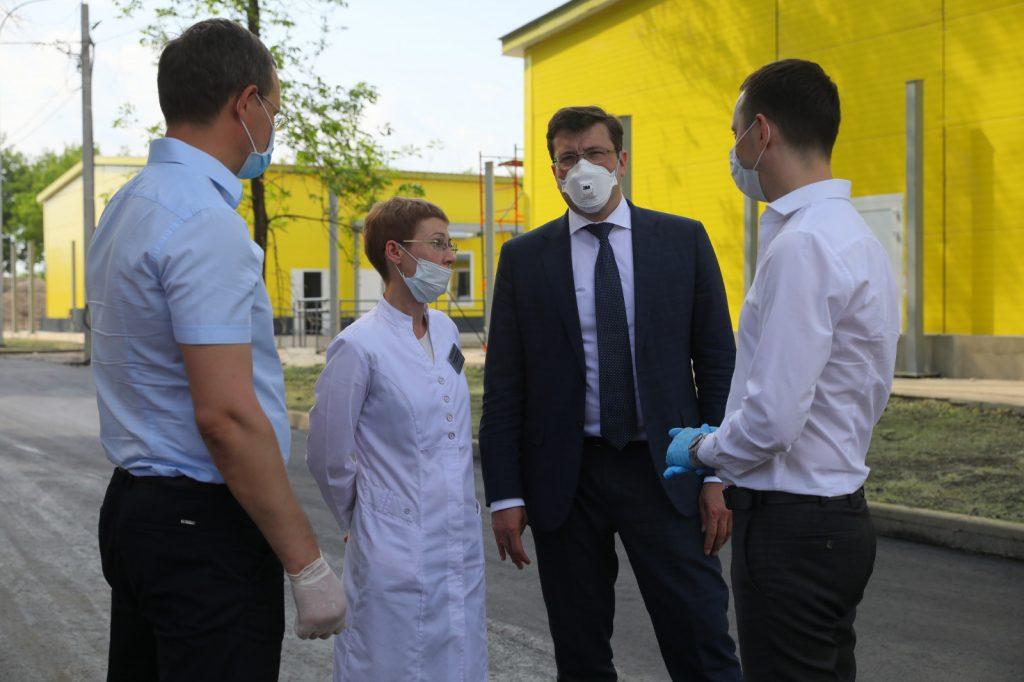 Глеб Никитин проверил ход работ позавершению строительства нового корпуса инфекционной больницы №23