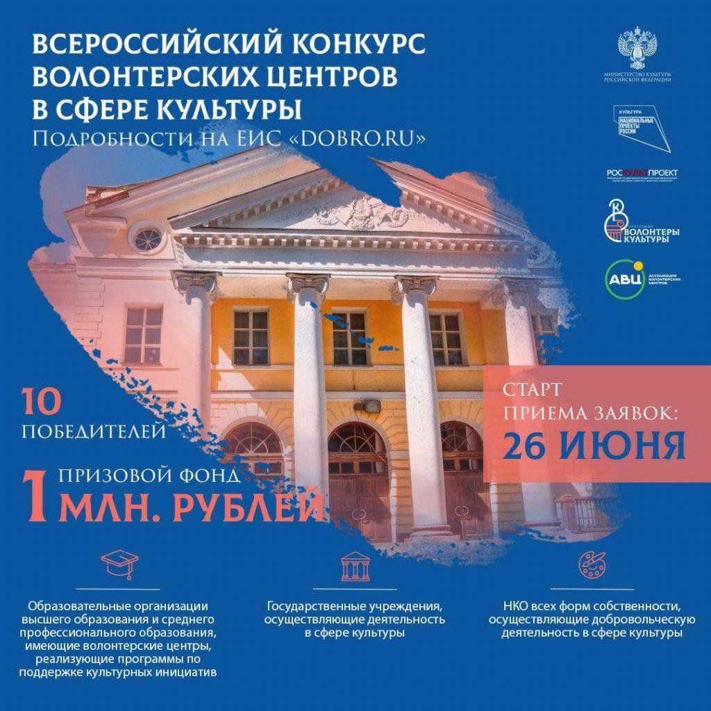 Нижегородцы могут принять участие воВсероссийском конкурсе волонтерских центров всфере культуры