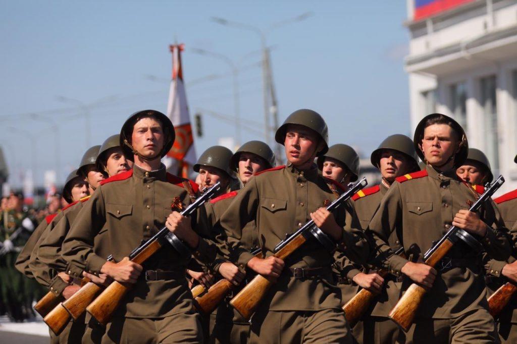 Глеб Никитин поблагодарил организаторов и участников «Марша Победы»