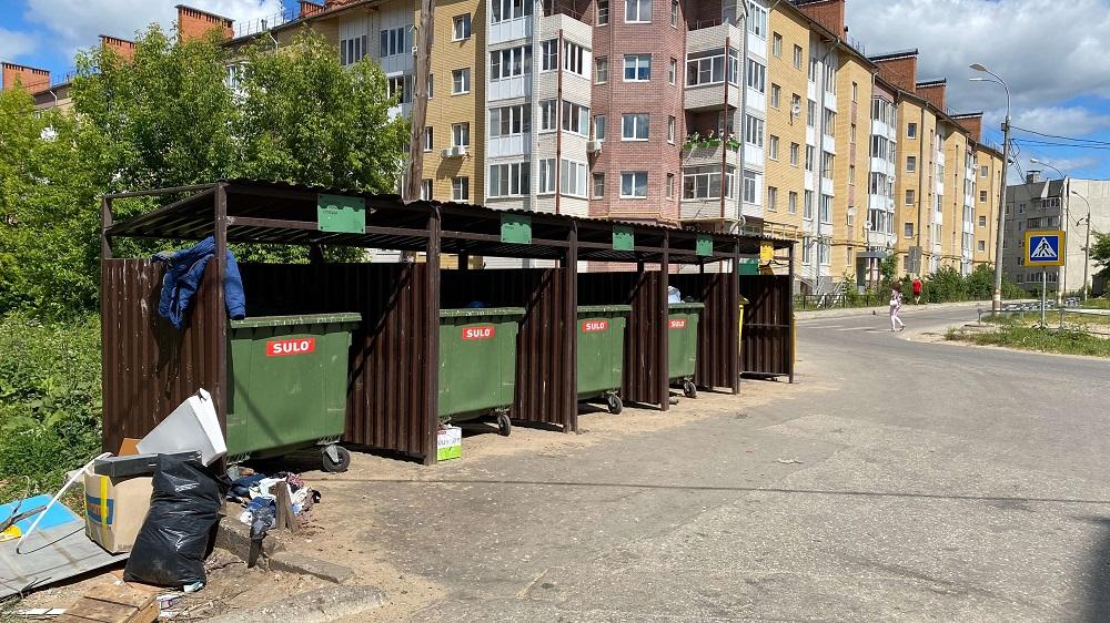 Проверку соблюдения графика вывоза мусора исодержание контейнерных площадок проверили наБору
