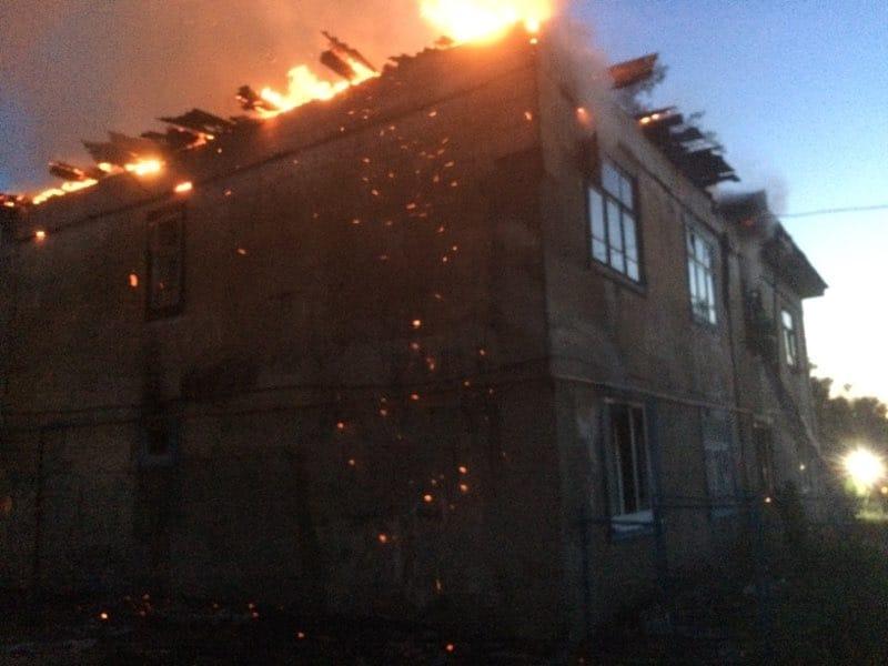 Два нижегородца пострадали в пожаре в посёлке Октябрьский