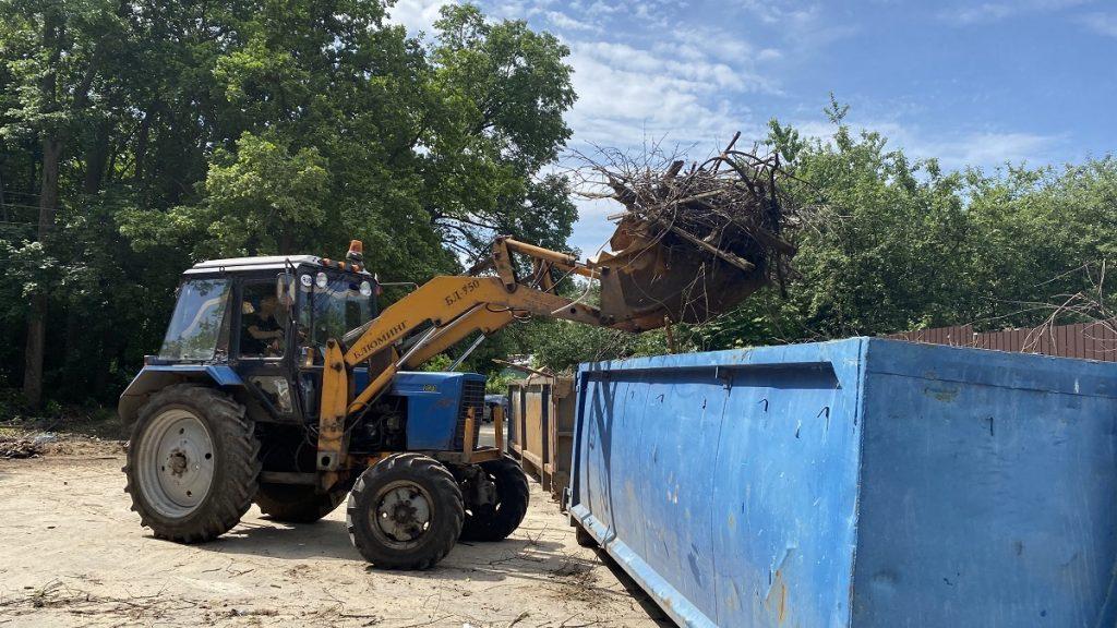 Несанкционированную свалку ликвидировали вСоветском районе Нижнего Новгорода