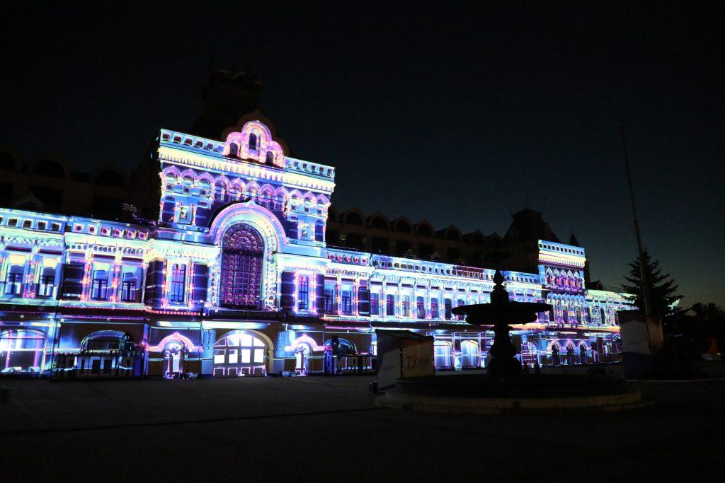 Световое шоу на фасаде Нижегородской ярмарки покажут в День России