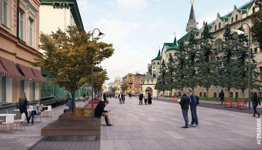 Улица в будущее:  опубликован проект благоустройства Большой Покровской