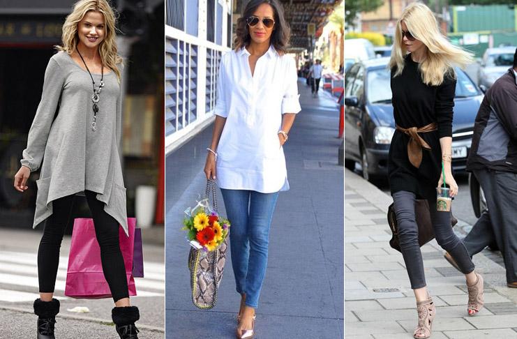 С чем носить тунику-рубашку: женские советы