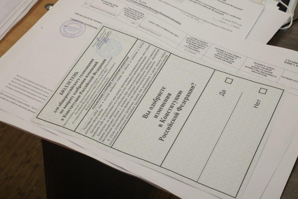 Явка избирателей в Нижегородской области на 10:00 составила 61,03% от общего числа участников голосования