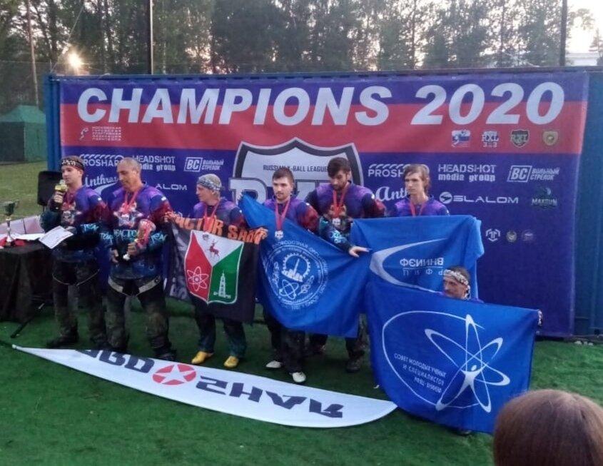 Пейнтбольная команда из Сарова взяла бронзу на первом этапе Кубка Москвы