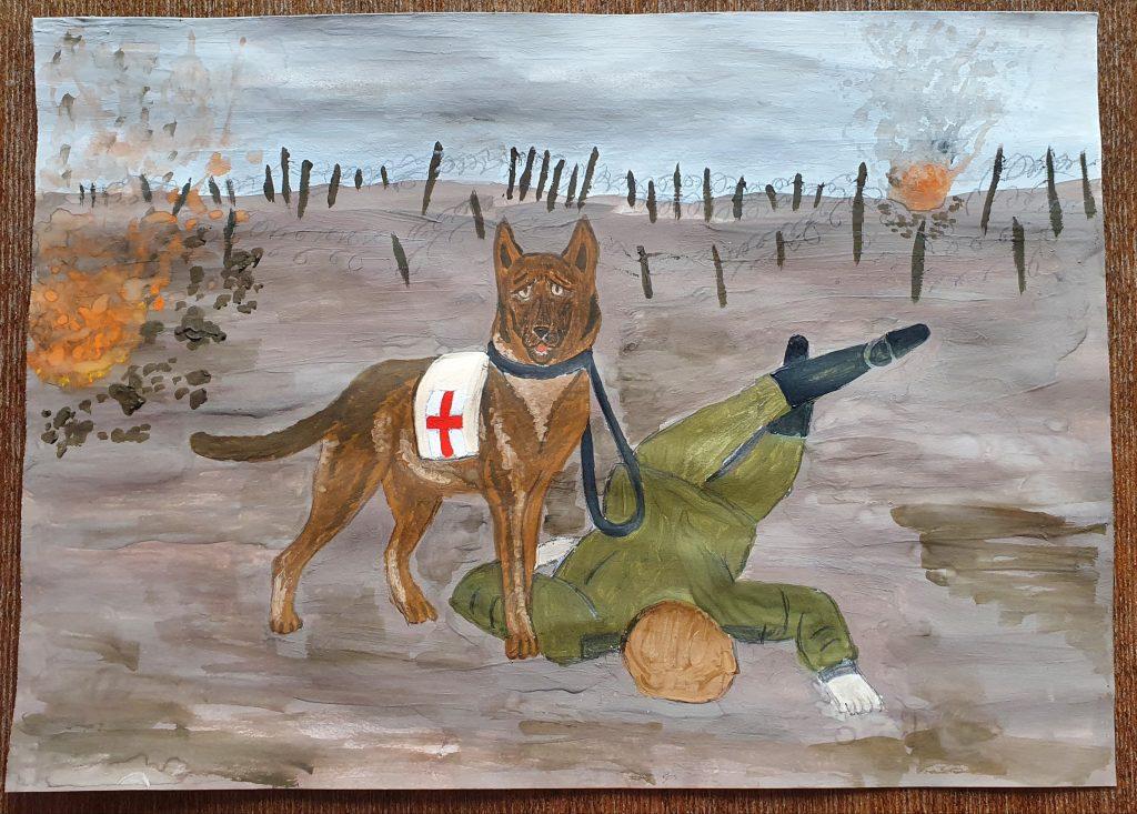 Юные нижегородцы стали одними из самых активных участников конкурса «Портрет фронтовой собаки»