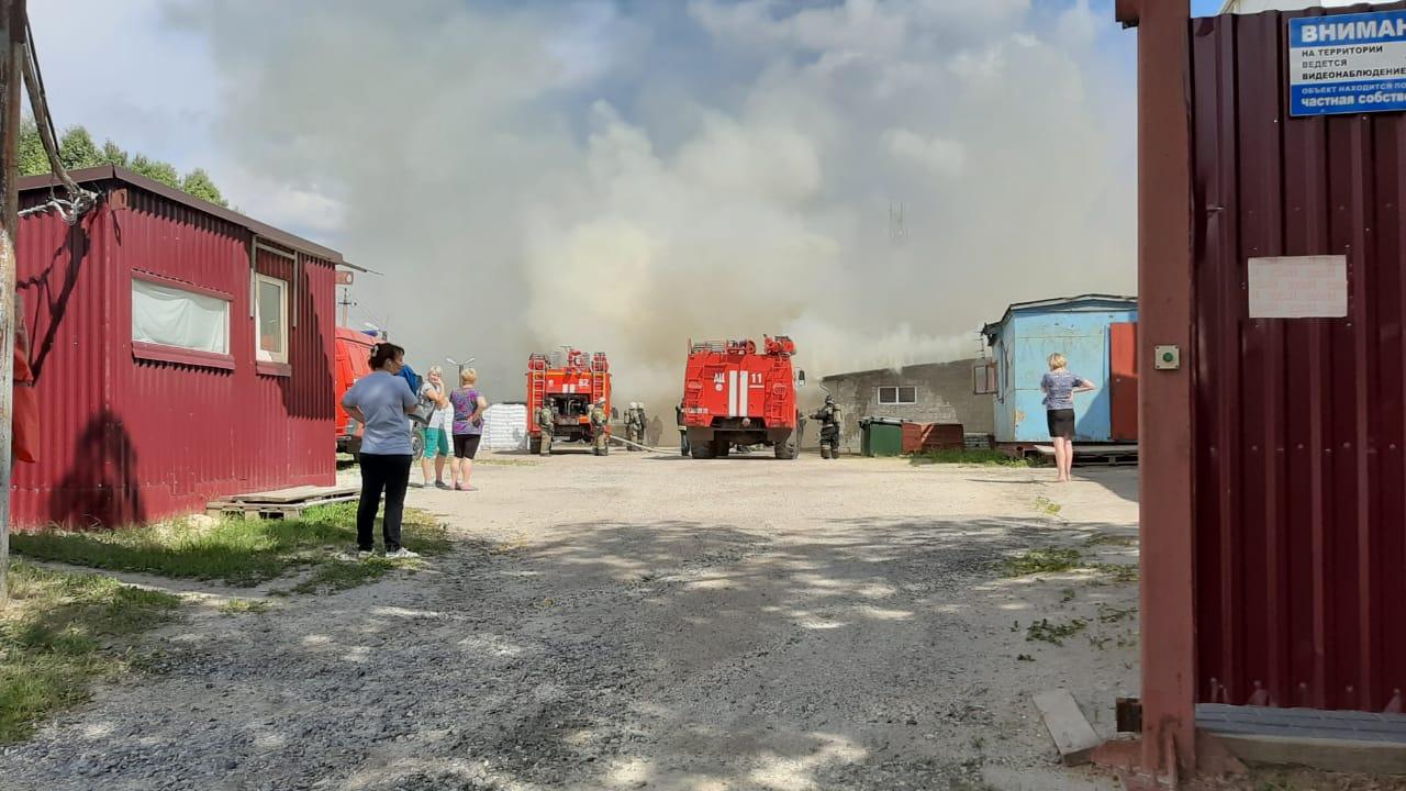 пожар склад