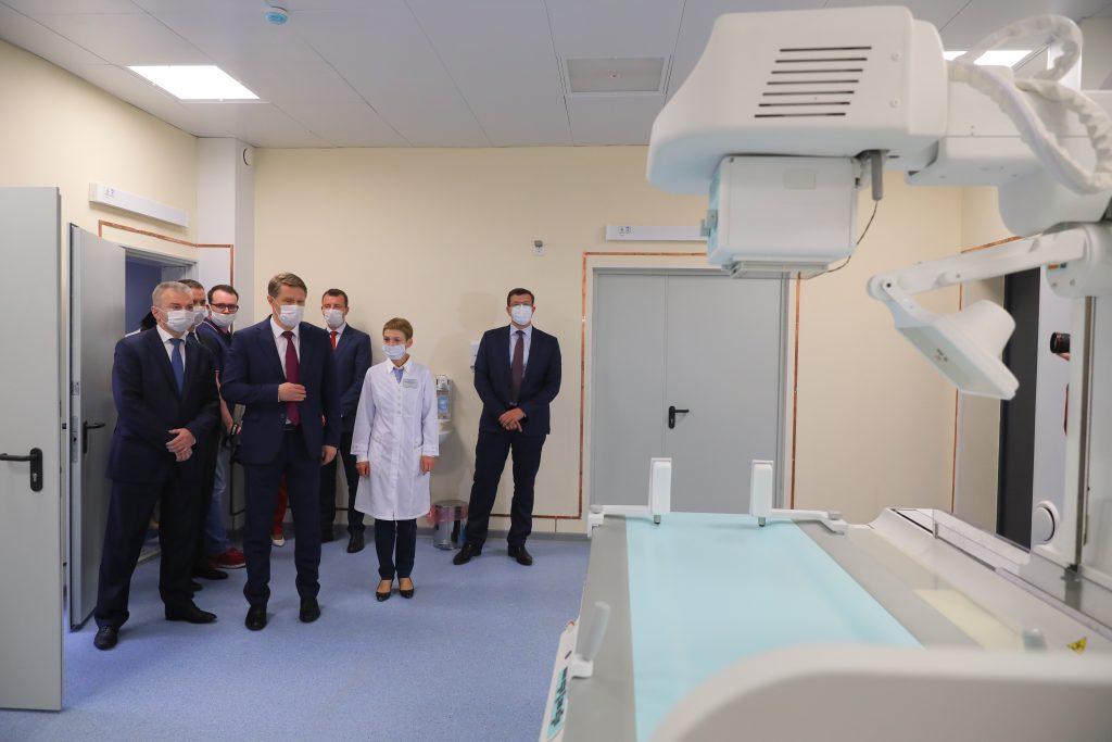 Михаил Мурашко иГлеб Никитин осмотрели новый инфекционный корпус 23 инфекционной больницы