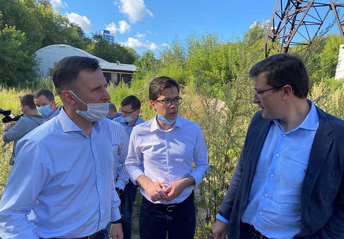 Глеб Никитин проверил работы порасчистке Ковалихинского оврага