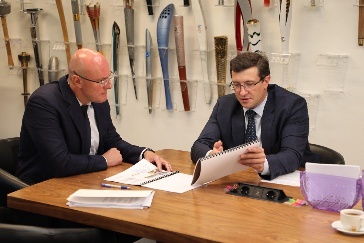 Дмитрий Чернышенко иГлеб Никитин провели рабочую встречу
