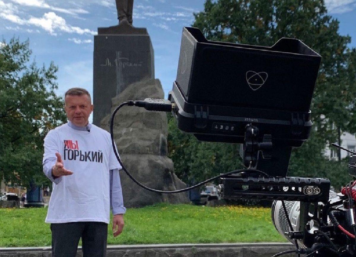 Леонид Парфенов показал отрывок из фильма о Нижнем Новгороде