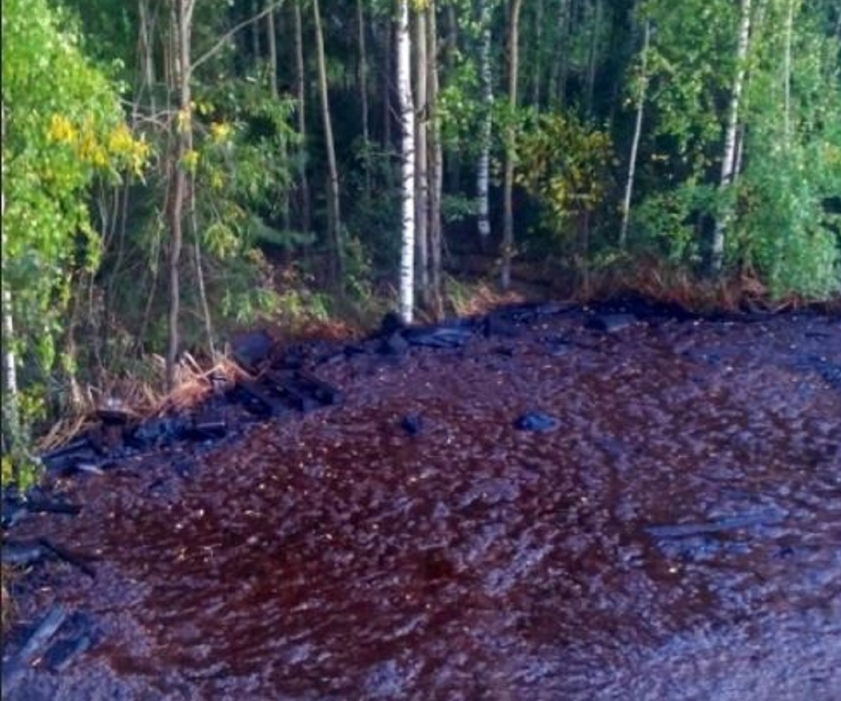 Специалисты минэкологии заинтересовались «мазутным озером» в микрорайоне Бурнаковский